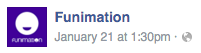 Funimation post time 1:30pm