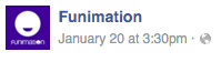 Funimation post time 3:30pm